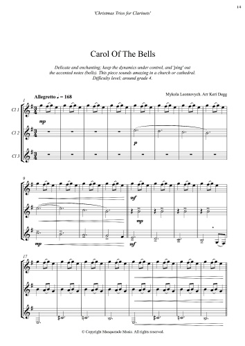 Carol Of The Bells Clari Sample
