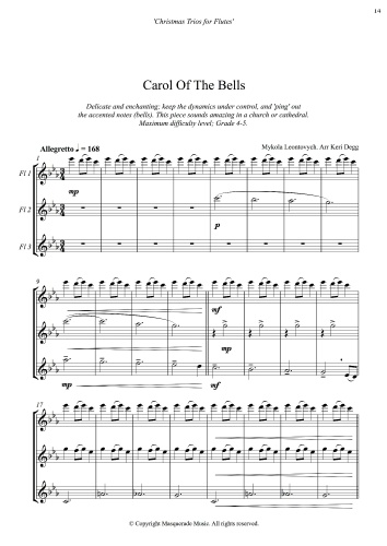Carol of the bells flute sample