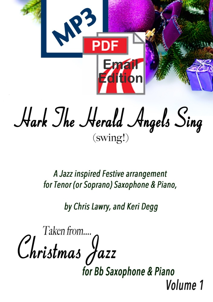 Hark The Herald Angels Sing (Swing!) Jazz inspired arrangement Tenor (or So
