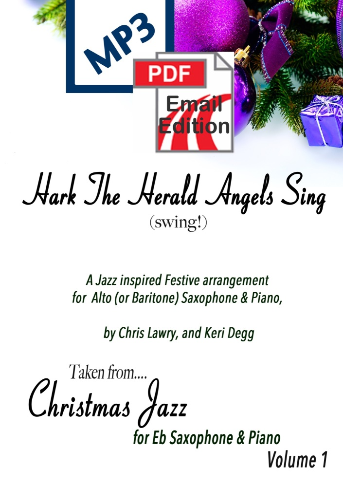 Hark The Herald Angels Sing (Swing!) Jazz inspired arrangement Alto (or Bar