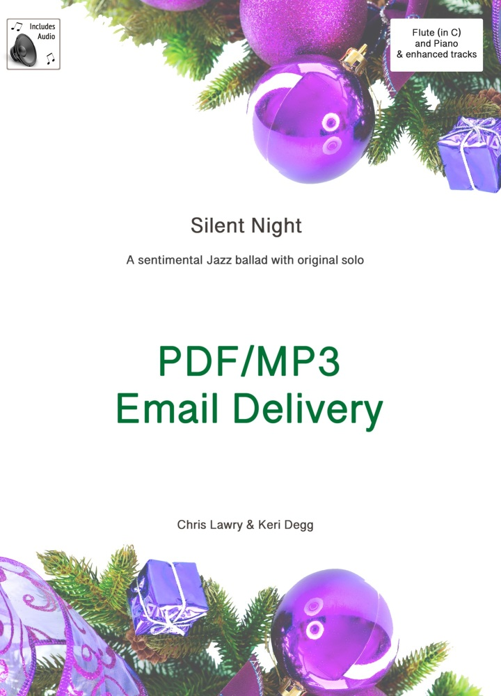 Silent Night Jazz ballad inspired arrangement Flute & Piano. PDF/MP3 editio