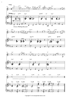 Sunny Blue Sax Score sample page