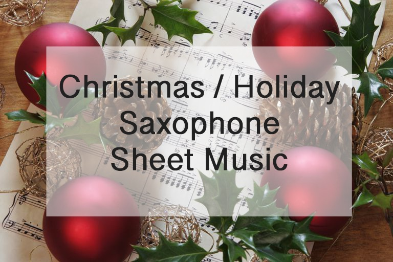 Christmas sax sheet music graphic Create