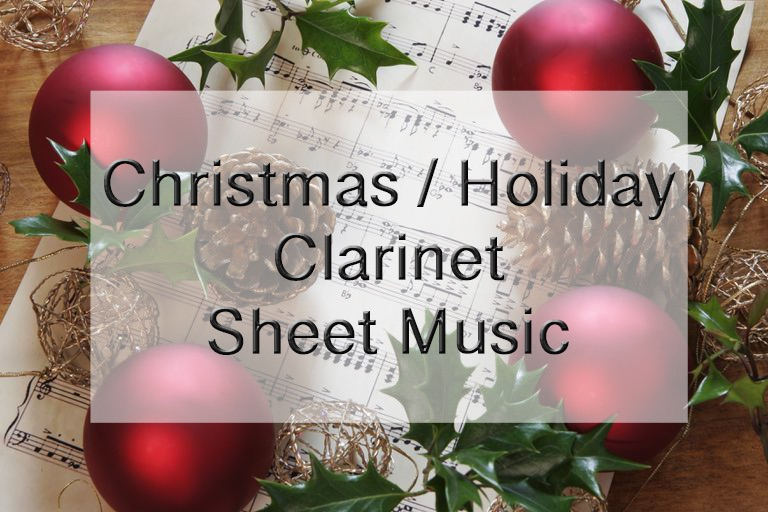 Christmas Clarinet sheet music graphic Create