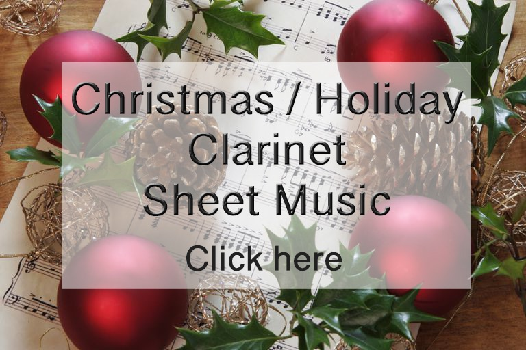 Christmas / Holiday Clarinet Sheet Music