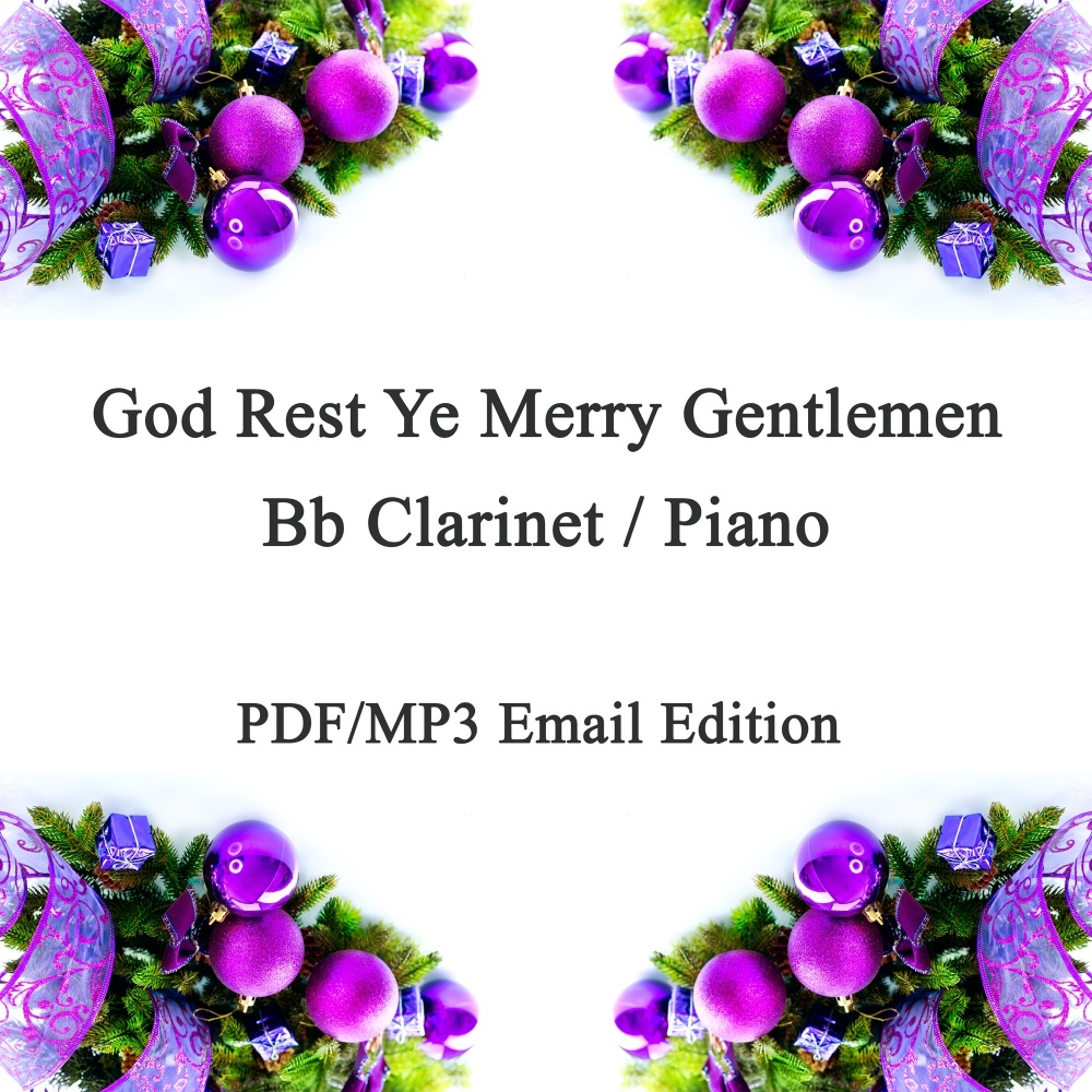 God Rest Ye Merry Gentlemen Jazz inspired arrangement Bb Clarinet & Piano.