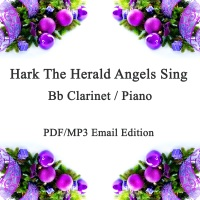 Hark The Herald Angels Sing (Swing!) Jazz inspired arrangement Bb Clarinet & Piano. PDF/MP3 edition