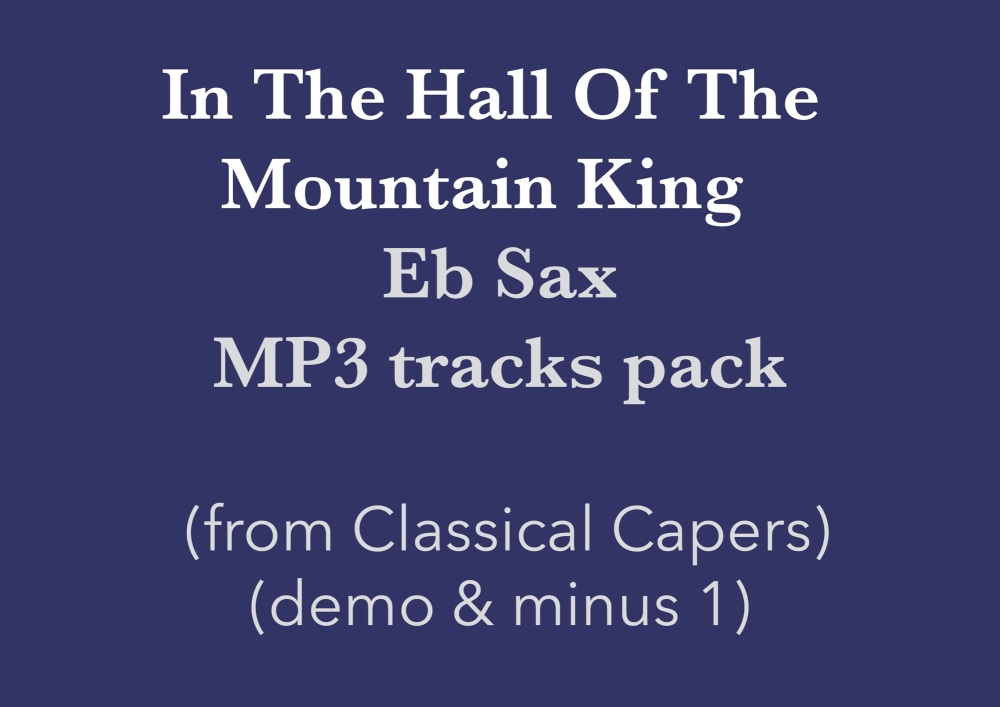 In the hall of the Mountain King (Eb Sax) Demo and Backing Tracks MP3's (fr