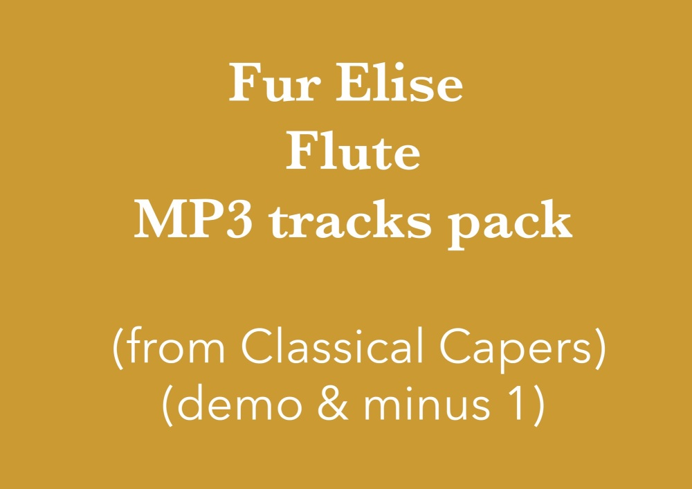 Für Elise - Flute (in C) Demo and Backing Tracks MP3's (from Classical Cape