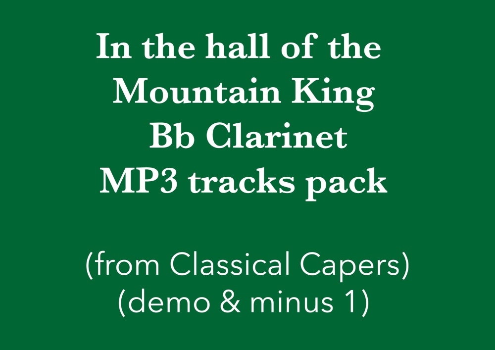 In the hall of the Mountain King (Bb clarinet) Demo and Backing Tracks MP3'