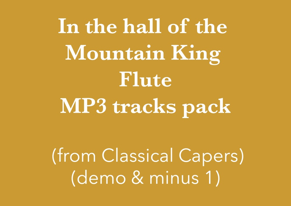 In the hall of the Mountain King - flute (in C) Demo and Backing Tracks MP3