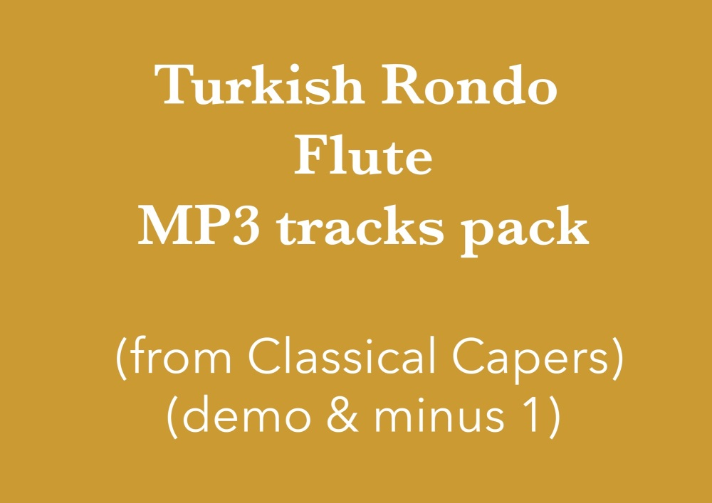 Turkish Rondo - flute (in C) Demo and Backing Tracks MP3's (from Classical