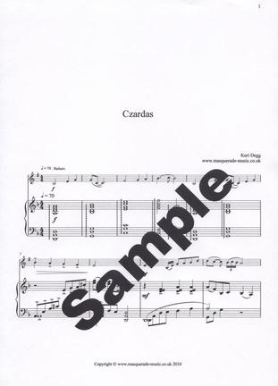 Czardas sample page 1 image