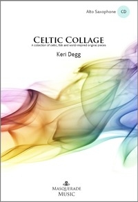 Celtic collage alto sax cover