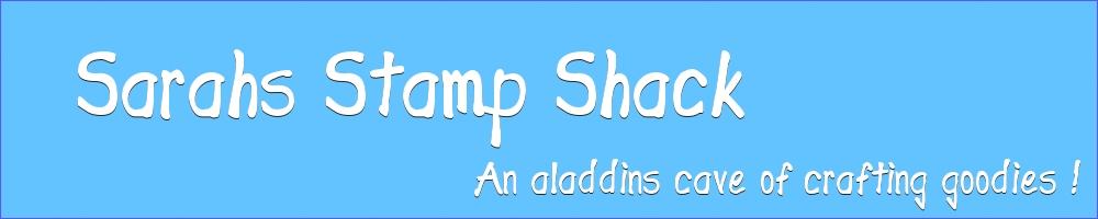 Sarah's Stamp Shack, site logo.