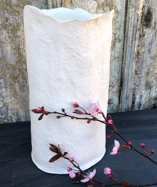 paperclay vase