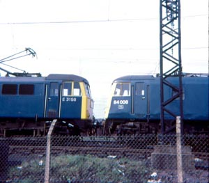 ZZ TOPS 84007 and non-TOPS E3158 at Longsight depot  23-Apr-73