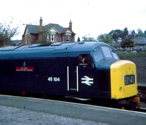 ZZ Freshly renumbered Peak 45104 (previously D59) at Newton Abbot 12-May-