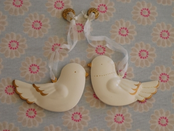 Maileg Metal Bird Ornaments (pair)