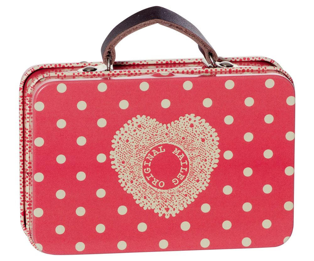 Metal Suitcase, Red Spotty