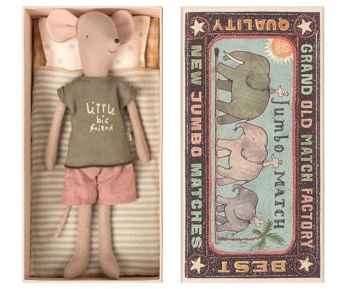 * NEW * Very Big Boy Mouse In a Huge Matchbox