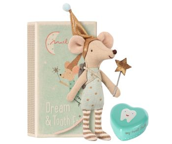 Tooth Fairy Boy Mouse in a Box, with Keepsake Tin