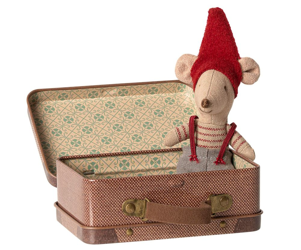 *NEW* Christmas Mouse in Suitcase, Little Brother
