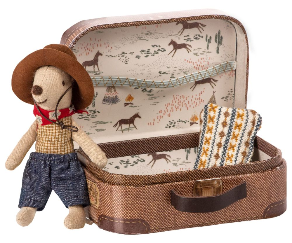 *BRAND NEW* Cowboy Mouse in Suitcase, Little Boy