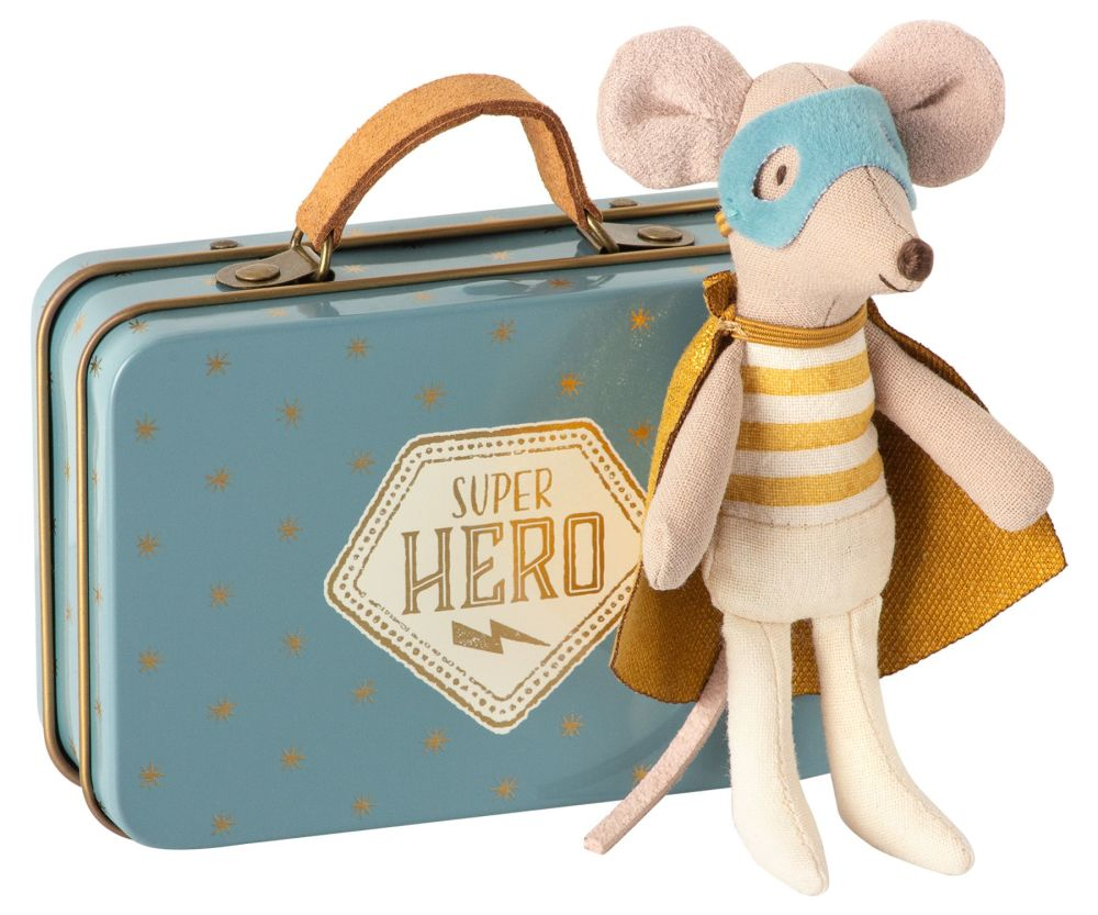 *NEW STYLE* Super Hero Mouse with Starry Suitcase