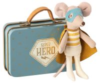 Super Hero Mouse with Starry Suitcase