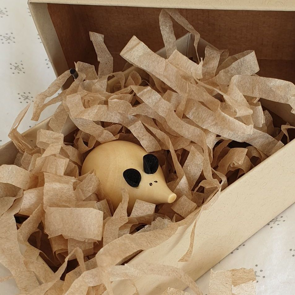 *SPECIAL* Wooden Mouse in a Box - White