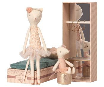 20% off - Dancing Cat and Mouse in a Shoebox Dance Wardrobe - 20% off!