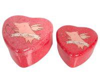 *New* Metal Love Heart Storage Tins