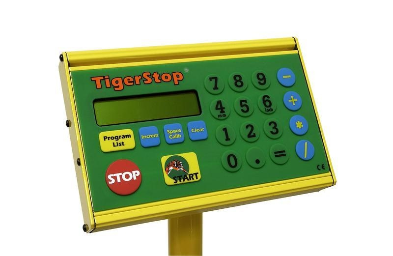 TIGERSTOP CONTROLLER FOR QUICK, SIMPLE SETTING OF LENGTHS AND FEEDER POSITI