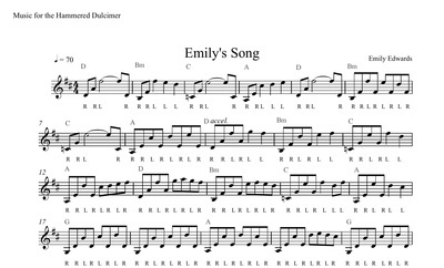 Emilys Song Sheet Music - SOLO