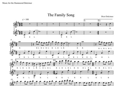 The Family Song Sheet Music - DUET