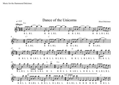 Dance of the Unicorns Sheet Music