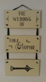 wedding day signage gift