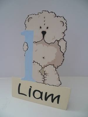 Birthday teddy bear plaque