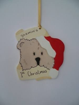 Teddy bear tree decoration