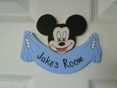 Mickey mouse door plaque (blue)