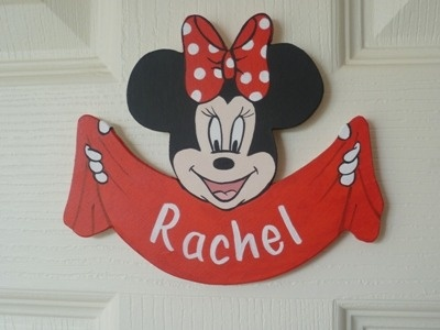 Minnie mouse door plaque (red)