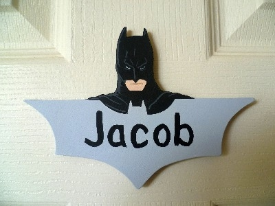 Batman door plaque
