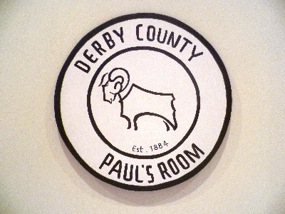 Derby County FC door plaque