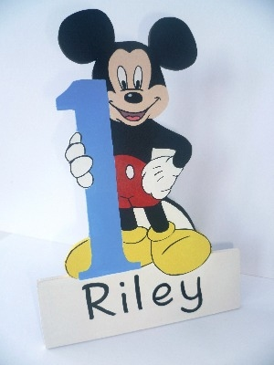 1st birthday Mickey Mouse plaque