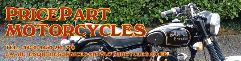 www.pricepartmotorcycles.co.uk, site logo.