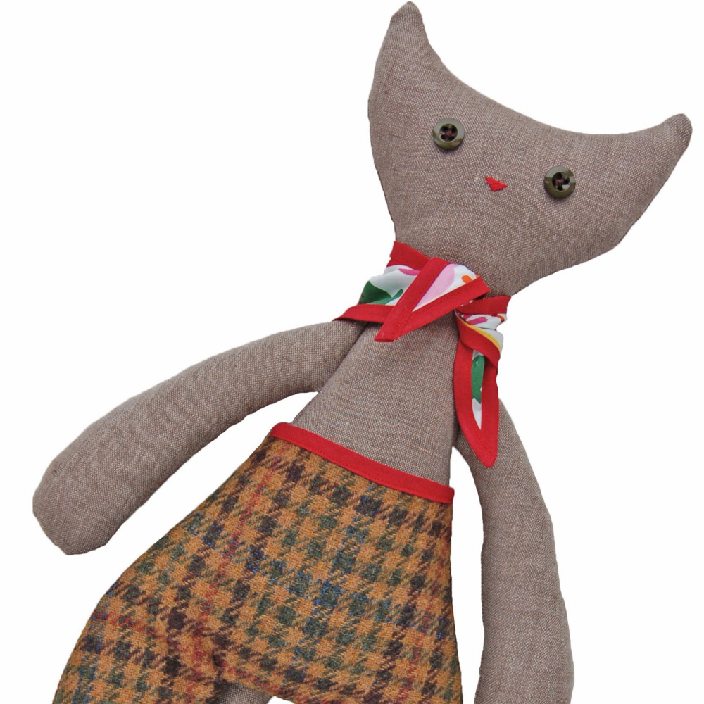 Cat in Tweed Trousers & Red