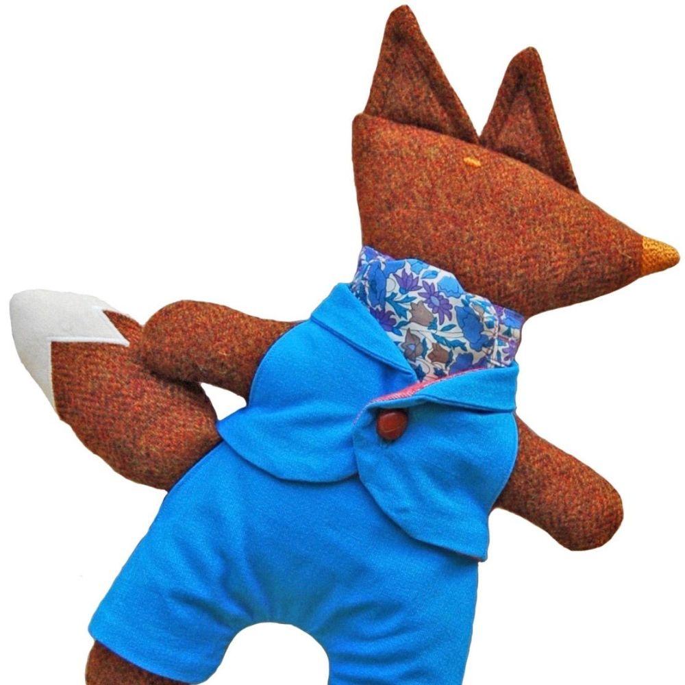 Mr Fox in Bright Blue