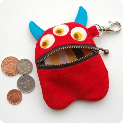 Red Monster Purse