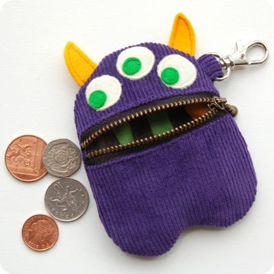 Purple Monster Purse